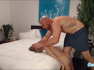 jmac gets deep throat ass fucking and doggie-style from real gal before spunking in her bootie