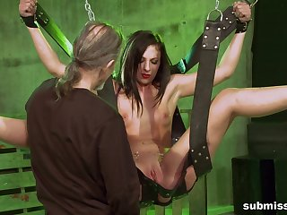 Teen gets pussy ripped in maledom XXX