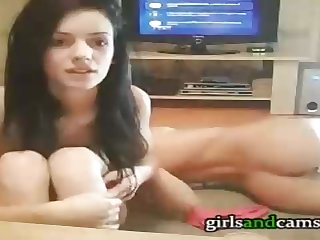 2 super-hot, bare chicks are toying muddy in the sofa, while in front of the web cam