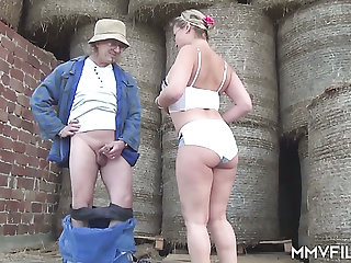 Village mature whore Manuela hooks up with one kinky farmer