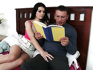 Quite talkative Anastasia Rose lures nerdy dude for some good sex