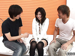 Naturally horny Japanese lady Saaya Hazuki gets pussy stretched with vaginal speculum