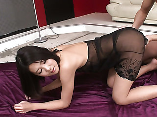 Natural emotional Japanese hottie Kyoka Sono gets tight cunt poked mish